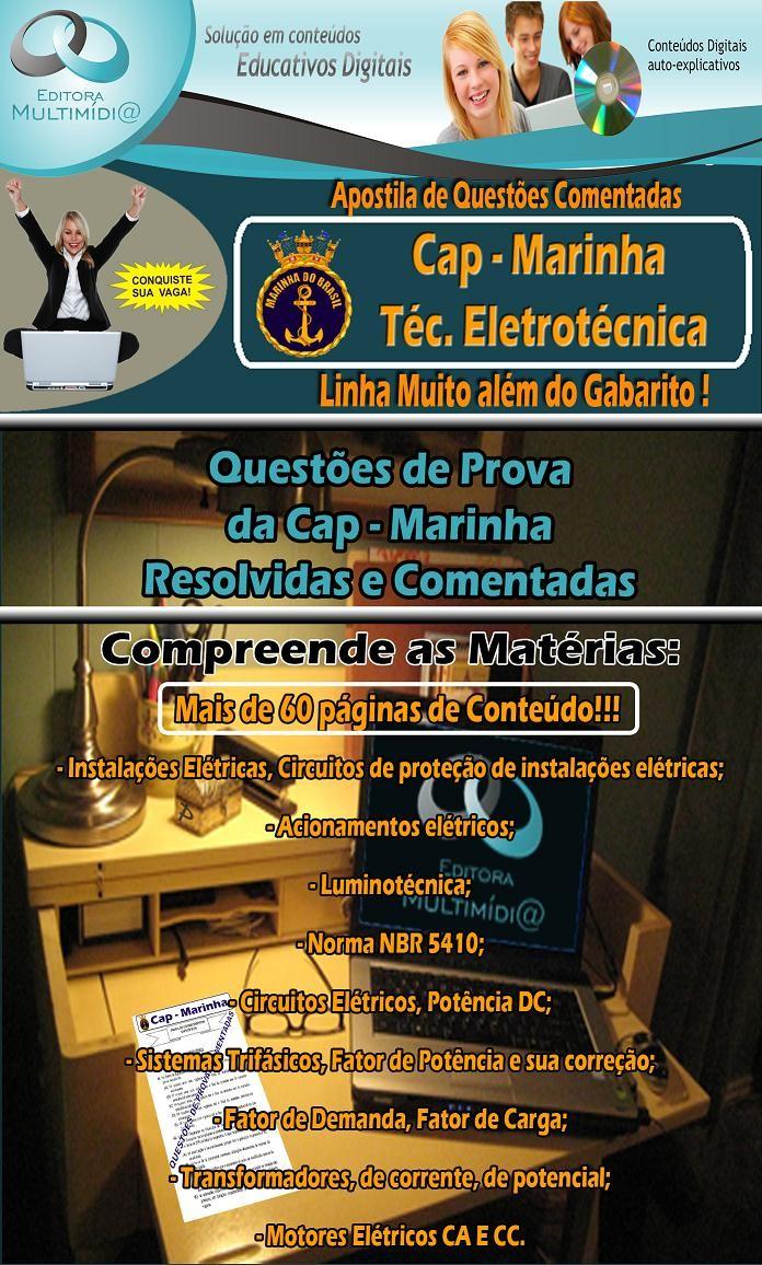 Apostila CAP MARINHA - QUESTÕES COMENTADAS - Técnico em Eletrotécnica