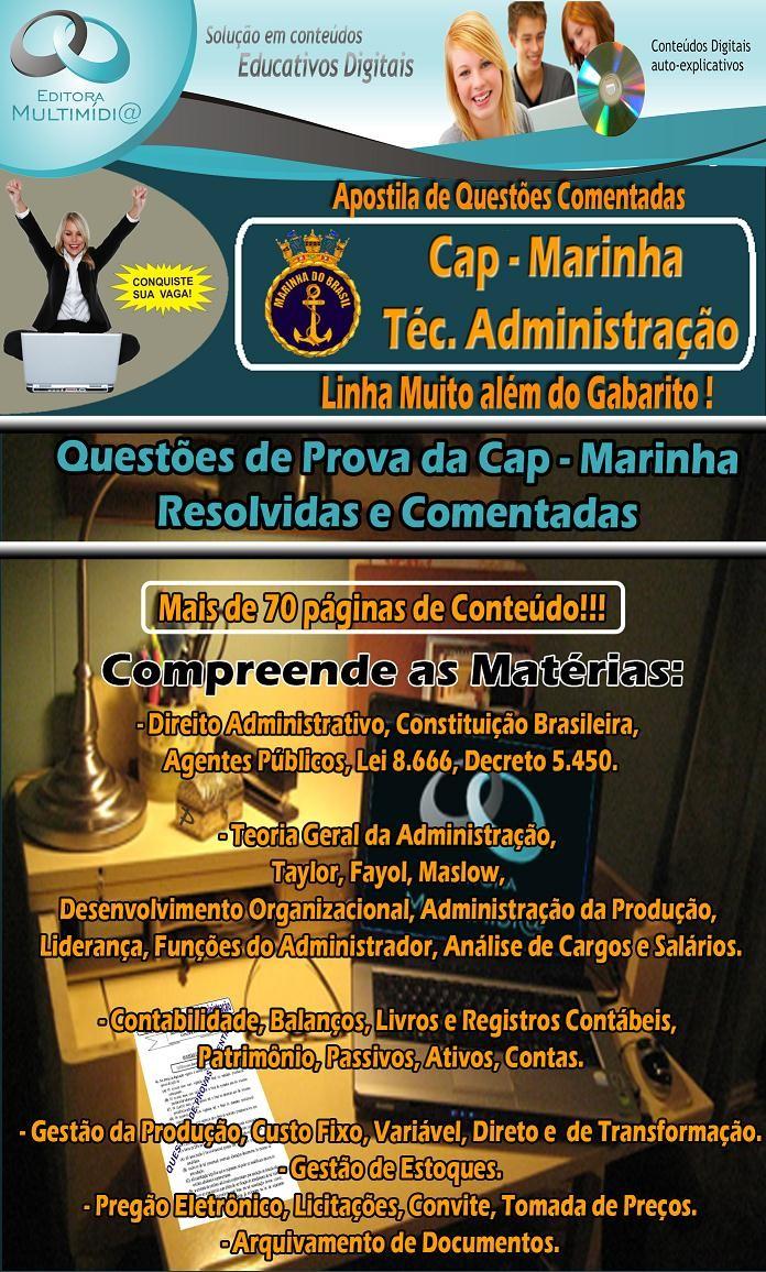 Apostila CAP MARINHA - QUESTÕES COMENTADAS - Técnico em Administração