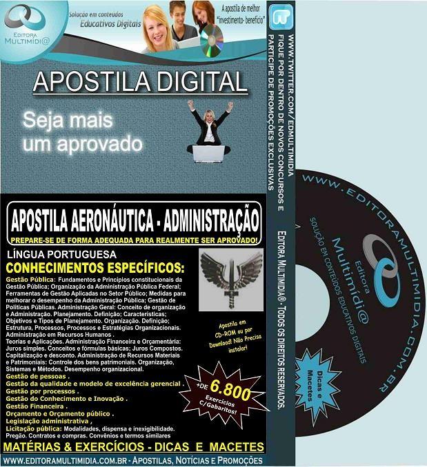 Apostila AERONÁUTICA - ADMINISTRAÇÃO - Teoria + 6.800 Exercícios - Concurso 2017