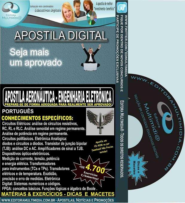 Apostila AERONÁUTICA - ENGENHARIA ELETRÔNICA - Teoria + 4.700 Exercícios - Concurso 2017