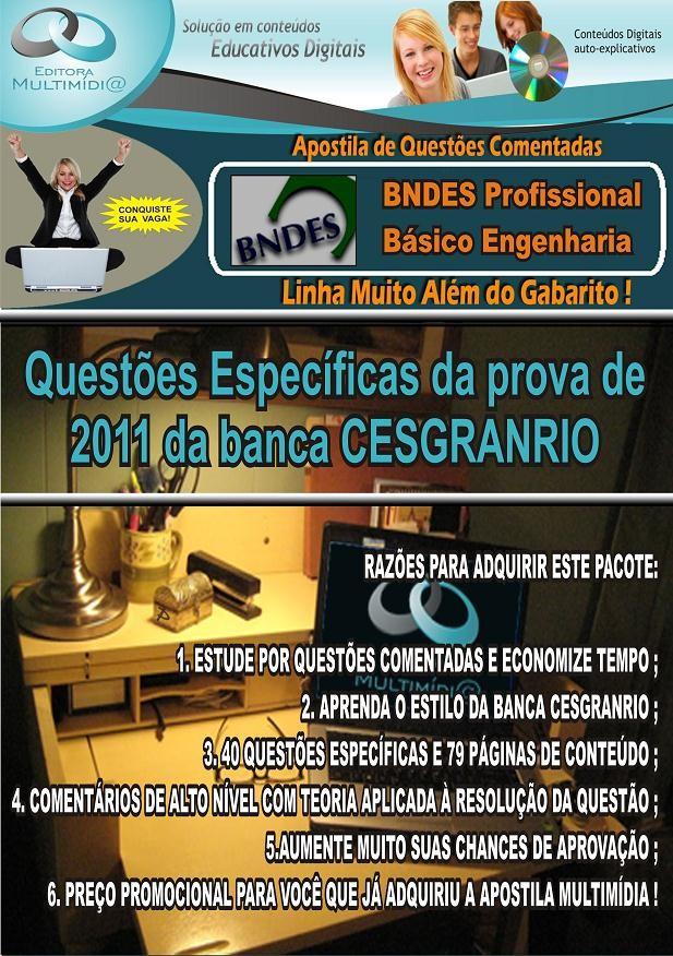 Apostila BNDES - QUESTÕES COMENTADAS - Específico ENGENHARIA