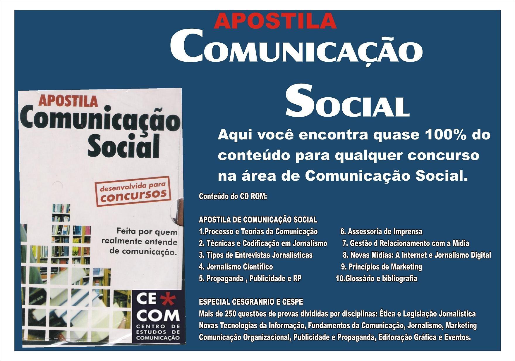 Apostila Comunicação Social para Concursos