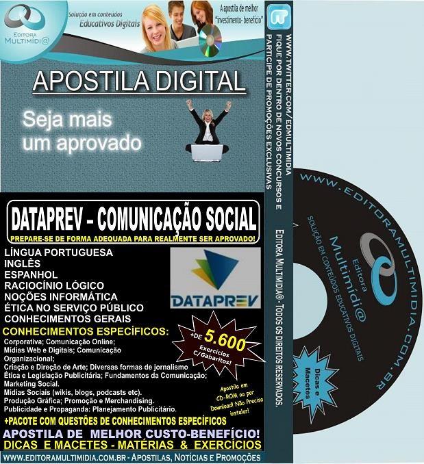 Apostila DATAPREV - COMUNICAÇÃO SOCIAL - Teoria + 5.600 Exercícios - Concurso 2014