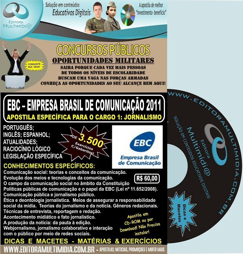 Apostila EBC - Empresa Brasil de Comunicação - Específica JORNALISMO -  2011
