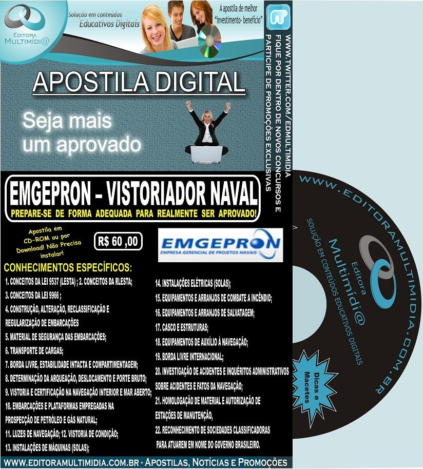 Apostila Concurso EMGEPRON - VISTORIADOR NAVAL - Marinha