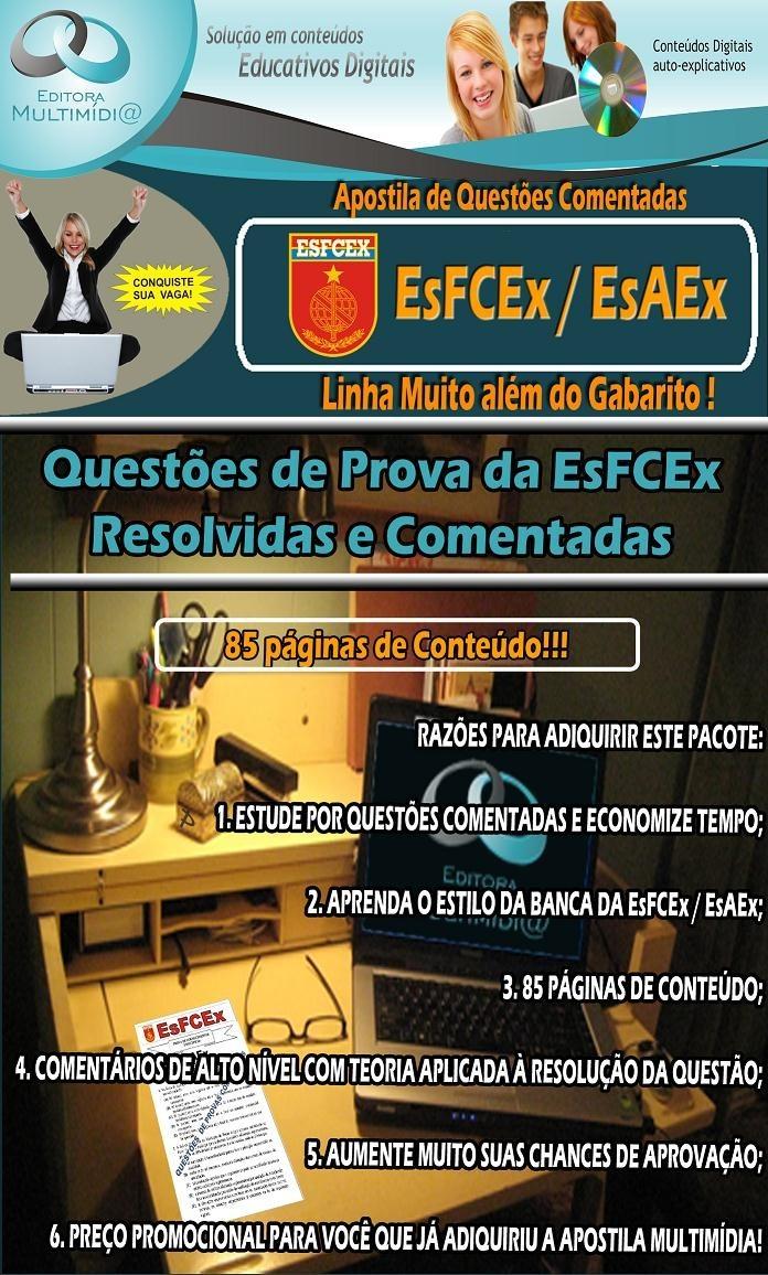 APOSTILA EsFCEx - QUESTÕES COMENTADAS - ÁREA ADMINISTRAÇÃO