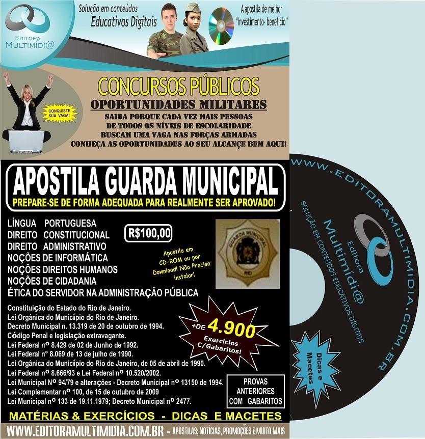 APOSTILA GUARDA MUNICIPAL CD - RIO DE JANEIRO