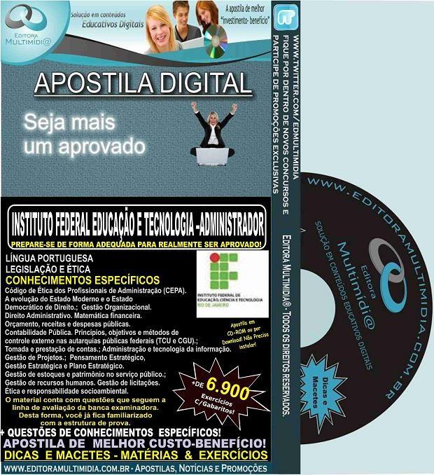 Apostila IFRJ - ADMINISTRADOR - Teoria + 6.900 Exercícios - Concurso 2016