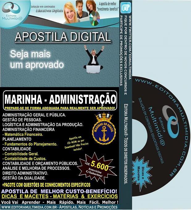 Apostila MARINHA - ADMINISTRAÇÃO - Teoria + 5.600 Exercícios