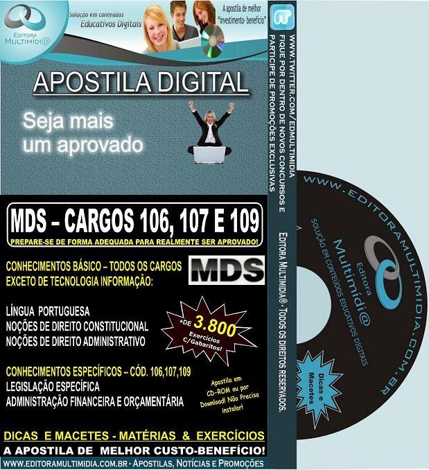 Apostila MDS I - Ministério do Desenvolvimento Social - Teoria + 3.800 Exercícios - Concurso 2013