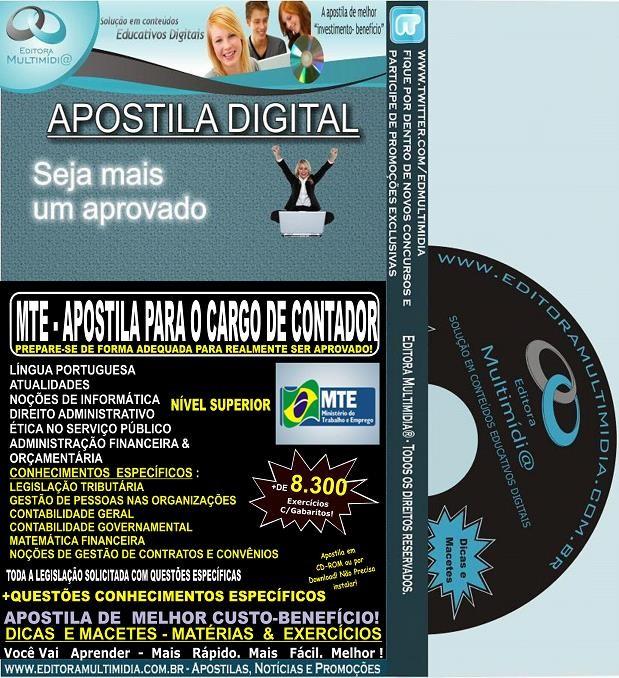 Apostila MTE - CONTADOR - Teoria + 8.300 Exercícios - Concurso 2014
