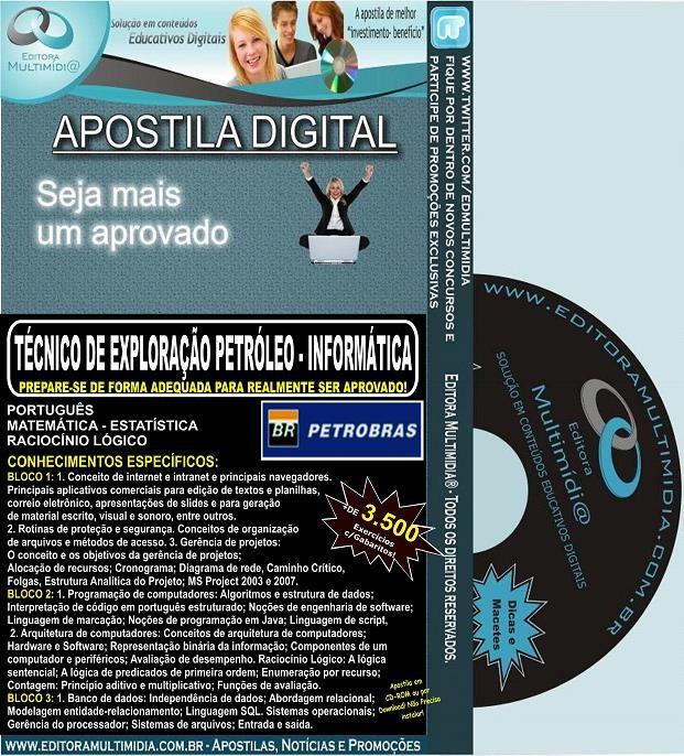 Apostila PETROBRAS - Técnico de Exploração de Petróleo - INFORMÁTICA - Teoria + 3.500 Exercícios