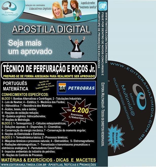 Apostila PETROBRAS - Técnico de Perfuração e Poços Jr. - Teoria + 2.200 Exercícios