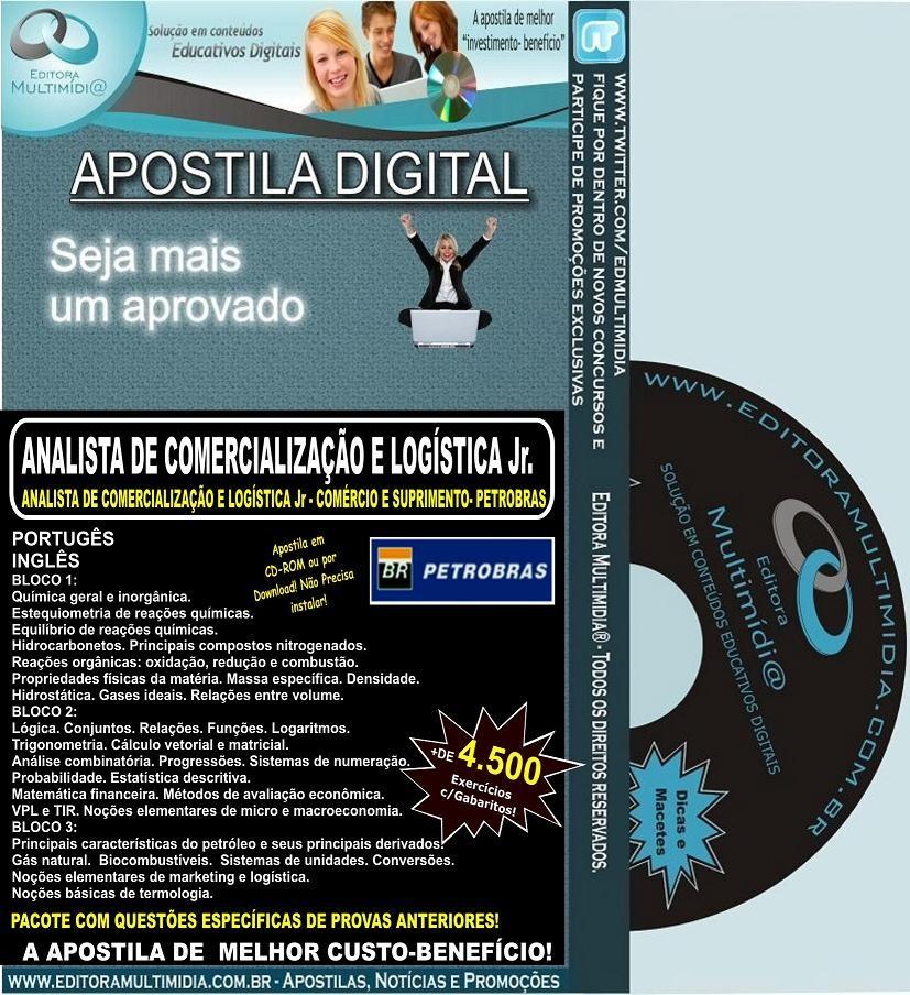 Apostila PETROBRAS - Analista de Comercialização e Logística Jr. - Teoria + 4.500 Exercícios
