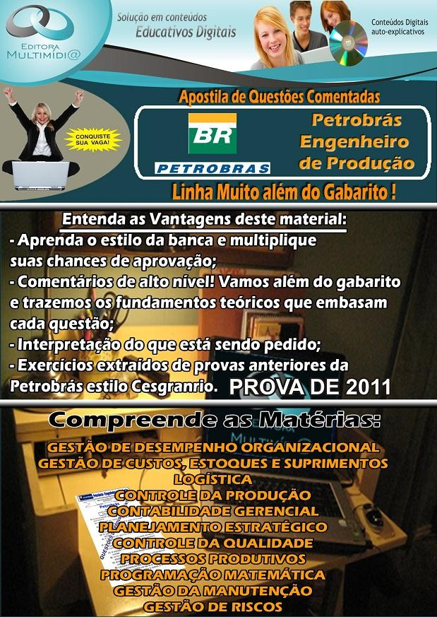 Apostila PETROBRAS - Questões COMENTADAS - ENGENHEIRO DE PRODUÇÃO
