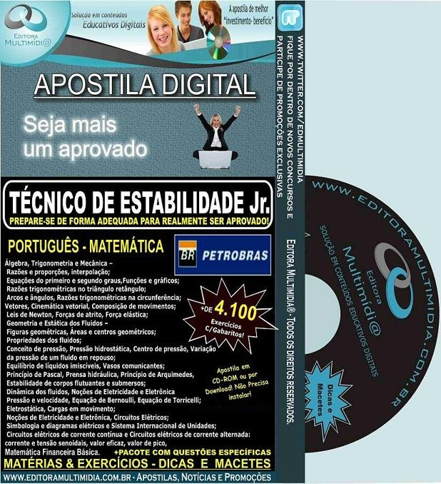 Apostila PETROBRAS - Técnico de Estabilidade Jr. - Teoria + 4.100 Exercícios