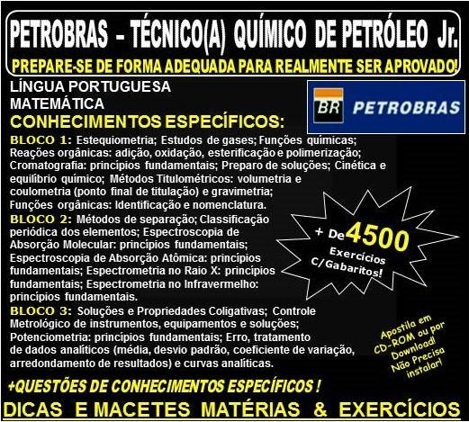 APOSTILA PETROBRAS - TÉCNICO QUÍMICO DE PETRÓLEO Jr. - Teoria + 4.500 Exercícios - Concurso 2018