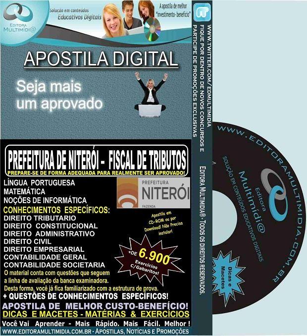 Apostila Prefeitura de Niterói - FISCAL de TRIBUTOS - Teoria + 6.900 Exercícios - Concurso 2015