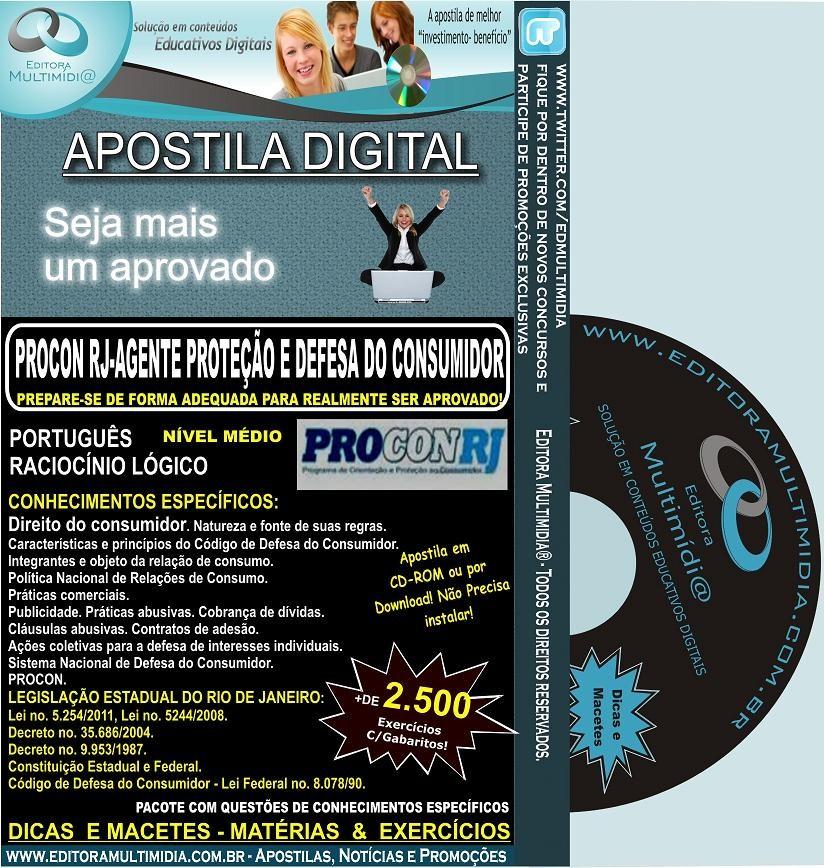 Apostila PROCON RJ 2012 - Agente de Proteção e Defesa do Consumidor - Teoria + 2.500 Exercícios