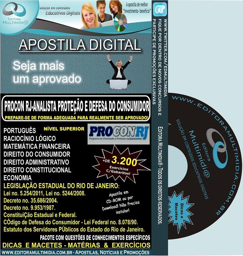 Apostila PROCON RJ 2012 - Analista de Proteção e Defesa do Consumidor - Teoria + 3.200 Exercícios
