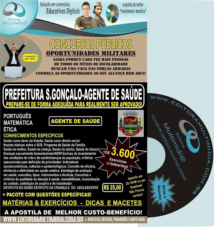 APOSTILA  PREFEITURA SÃO GONÇALO CD - AGENTE DE SAÚDE - CONCURSO 2011
