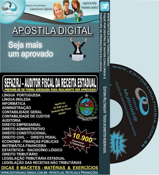 Apostila SEFAZ RJ - AUDITOR FISCAL da RECEITA ESTADUAL - Teoria + 10.900 Exercícios - Concurso 2013