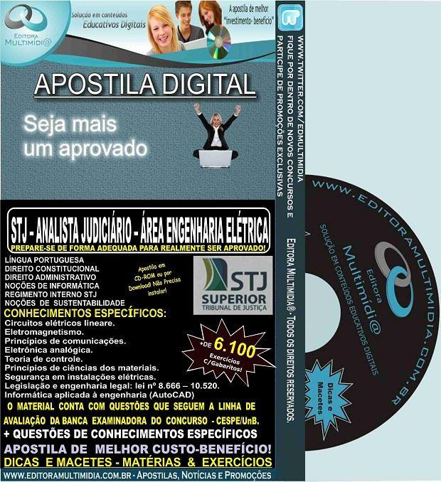 Apostila STJ - ANALISTA JUDICIÁRIO - Cargo 9 - Área ENGENHARIA ELÉTRICA - Teoria + 6.100 Exercícios - Concurso 2015