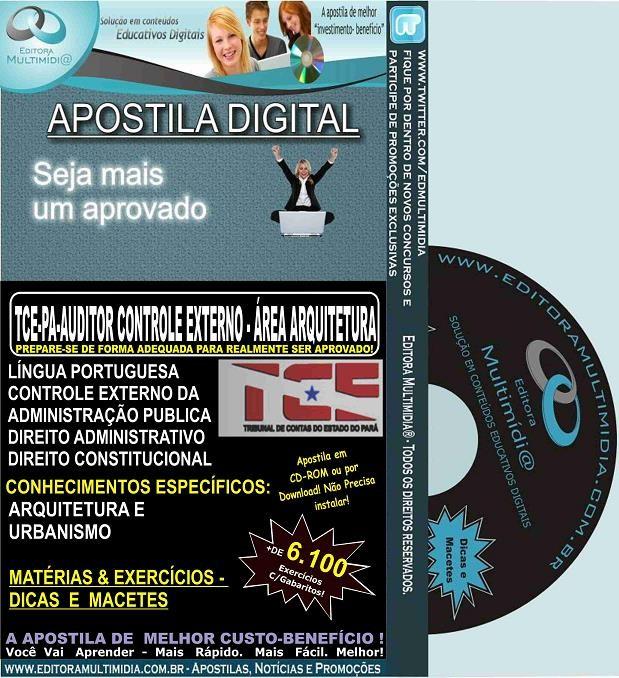 Apostila TCE PA - Auditor de Controle Externo - Área ARQUITETURA - Teoria + 6.100 Exercícios - Concurso 2016