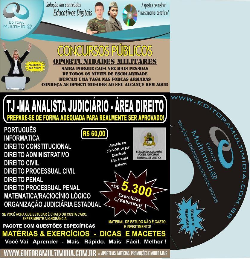 APOSTILA  TJ MA (MARANHÃO) CD - ÁREA DIREITO - CONCURSO 2011