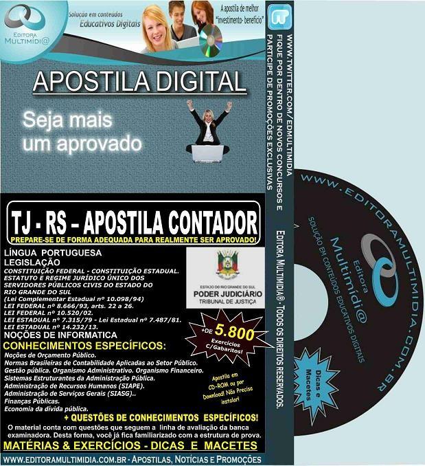 Apostila TJ RS - CONTADOR - Teoria + 5.800 Exercícios - Concurso 2016