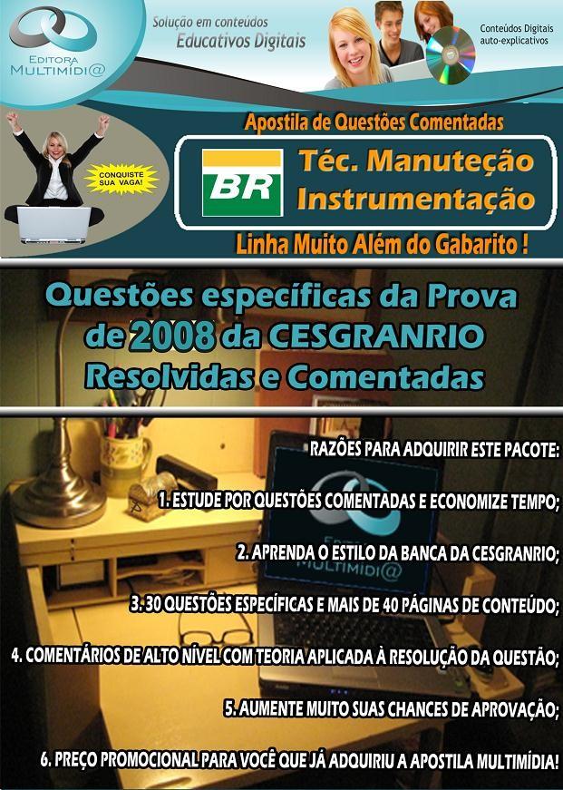 APOSTILA TRANSPETRO - QUESTÕES COMENTADAS - TÉCNICO INSTRUMENTAÇÃO