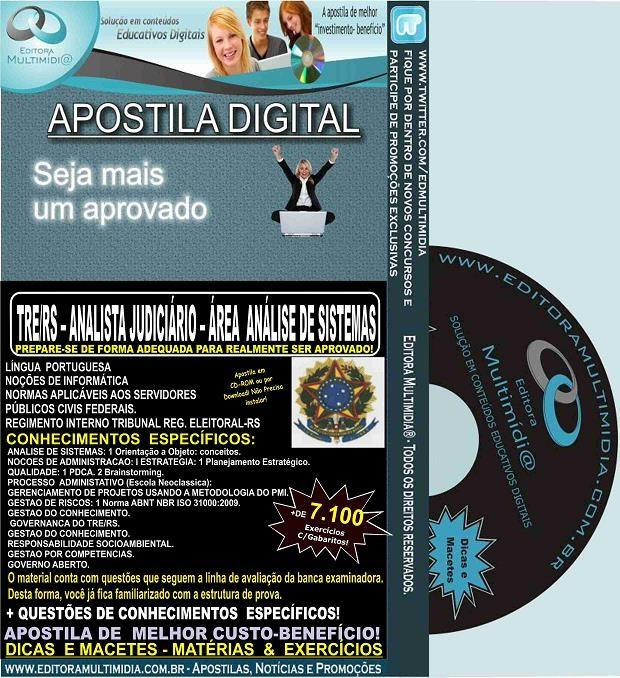 Apostila TRE RS - Analista Judiciário - Área ENGENHARIA CIVIL - Teoria + 6.900 Exercícios - Concurso 2015