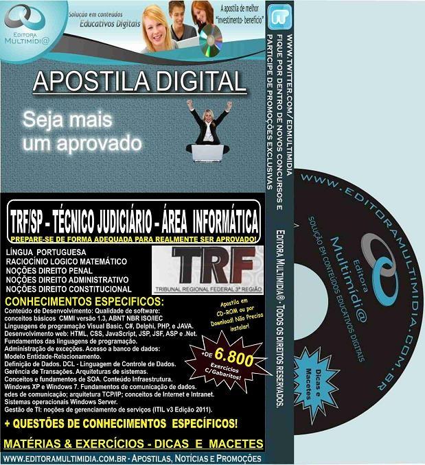 Apostila TRF SP - TÉCNICO Judiciário - Área INFORMÁTICA - Teoria + 6.800 Exercícios - Concurso 2016