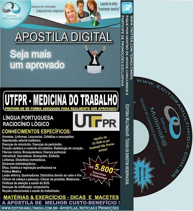 Apostila UTFPR - MEDICINA do TRABALHO - Teoria + 5.800 Exercícios - Concurso 2016