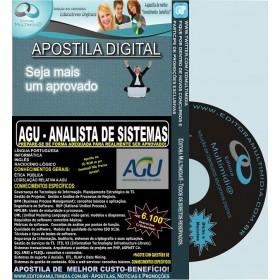 Apostila AGU - ANALISTA de SISTEMAS - Teoria + 6.100 Exercícios - Concurso 2014