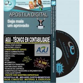 Apostila AGU - TÉCNICO em CONTABILIDADE - Teoria + 8.300 Exercícios - Concurso 2014