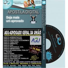 Apostila Preparatória AGU - ADVOGADO GERAL da UNIÃO - Teoria + 10.500 Exercícios - Concurso 2015