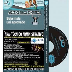 Apostila ANA - Técnico ADMINISTRATIVO - Teoria + 4.200 Exercícios - Concurso 2012