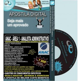 Apostila ANAC - ANALISTA ADMINISTRATIVO - ÁREA 1 - Teoria + 7.800 Exercícios - Concurso 2016