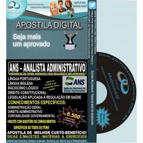 Apostila ANS - ANALISTA ADMINISTRATIVO - Teoria + 6.500 Exercícios - Concurso 2013
