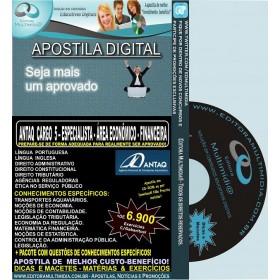 Apostila ANTAQ - CARGO 5 - ESPECIALISTA - Área ECONÔMICO - FINANCEIRA - Teoria + 6.900 Exercícios - Concurso 2014