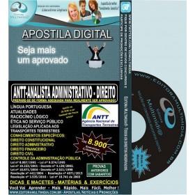 Apostila ANTT - Analista ADMINISTRATIVO - DIREITO - Teoria + 8.900 Exercícios - Concurso 2013