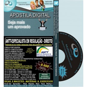 Apostila ANTT - Especialista em REGULAÇÃO - DIREITO - Teoria + 8.600 Exercícios - Concurso 2013