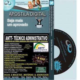 Apostila ANTT - Técnico ADMINISTRATIVO - Teoria + 6.600 Exercícios - Concurso 2013
