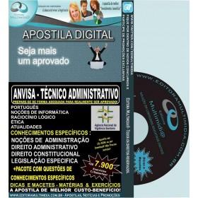Apostila ANVISA - Técnico ADMINISTRATIVO - Teoria + 7.900 Exercícios - Concurso 2016
