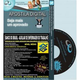 Apostila Banco do Brasil - AUXILIAR DE ENFERMAGEM DO TRABALHO - Teoria + 5.100 Exercícios - Concurso 2014