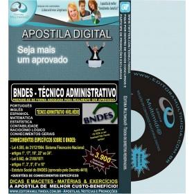 Apostila BNDES - Técnico ADMINISTRATIVO - Teoria + 3.900 Exercícios -  2017