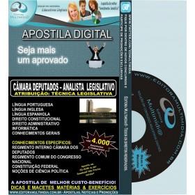 Apostila CÂMARA DOS DEPUTADOS - Analista Legislativo - TÉCNICA LEGISLATIVA - Teoria + 4.000 Exercícios - Concurso 2012