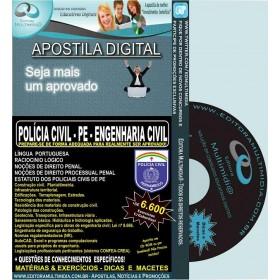 Apostila POLÍCIA CIVIL PE - ENGENHARIA CIVIL - Teoria + 6.600 Exercícios - Concurso 2016