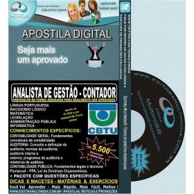 Apostila CBTU - Analista de Gestão - CONTADOR - Teoria + 7.100 Exercícios - Concurso 2014